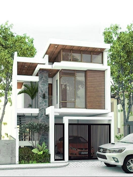 Proposed 2 storey 2-bedroom residential:  Single family home by ezpaze design+build, Modern