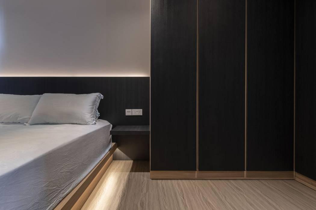 673B Yishun Ave 4 - Modern Scandinavian :  Bedroom by VOILÀ Pte Ltd,