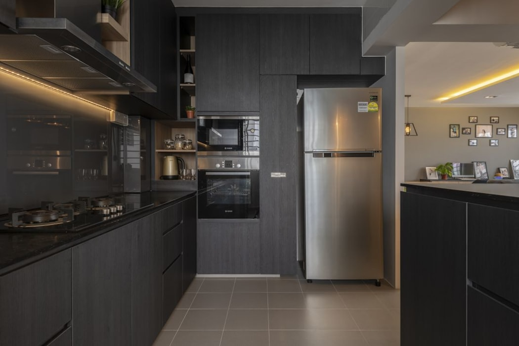 673B Yishun Ave 4 - Modern Scandinavian :  Built-in kitchens by VOILÀ Pte Ltd,Scandinavian