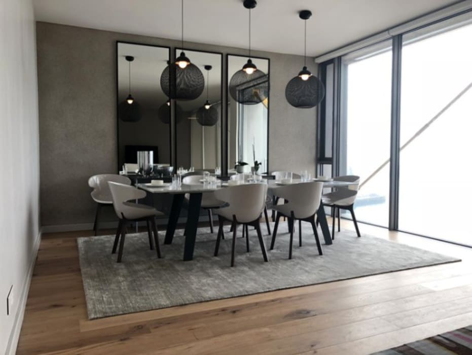 Silo Apartment - Cape Town:  Dining room by Just Interior Design