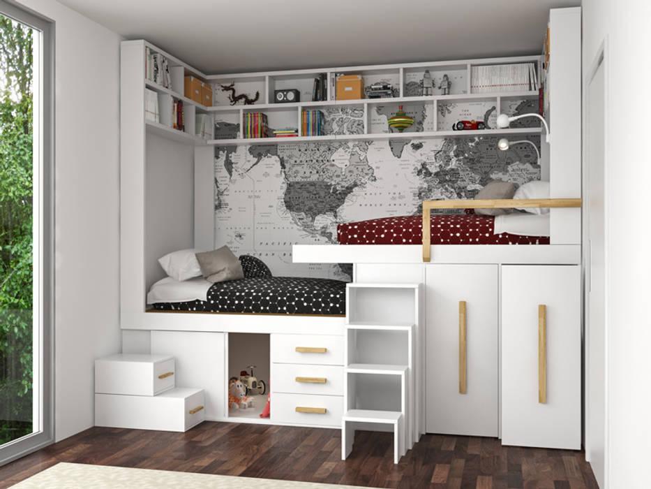 Letto salvaspazio Impero Young: Camera da letto in stile  di cinius s.r.l.