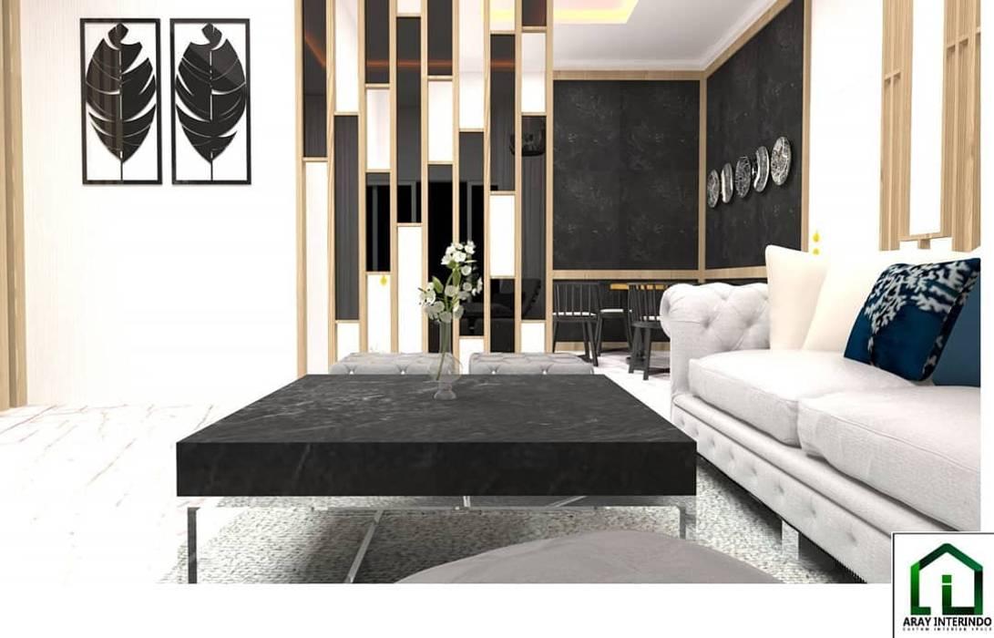 design interior living room american classic low at kota legenda cibubur:  oleh Aray Interindo,