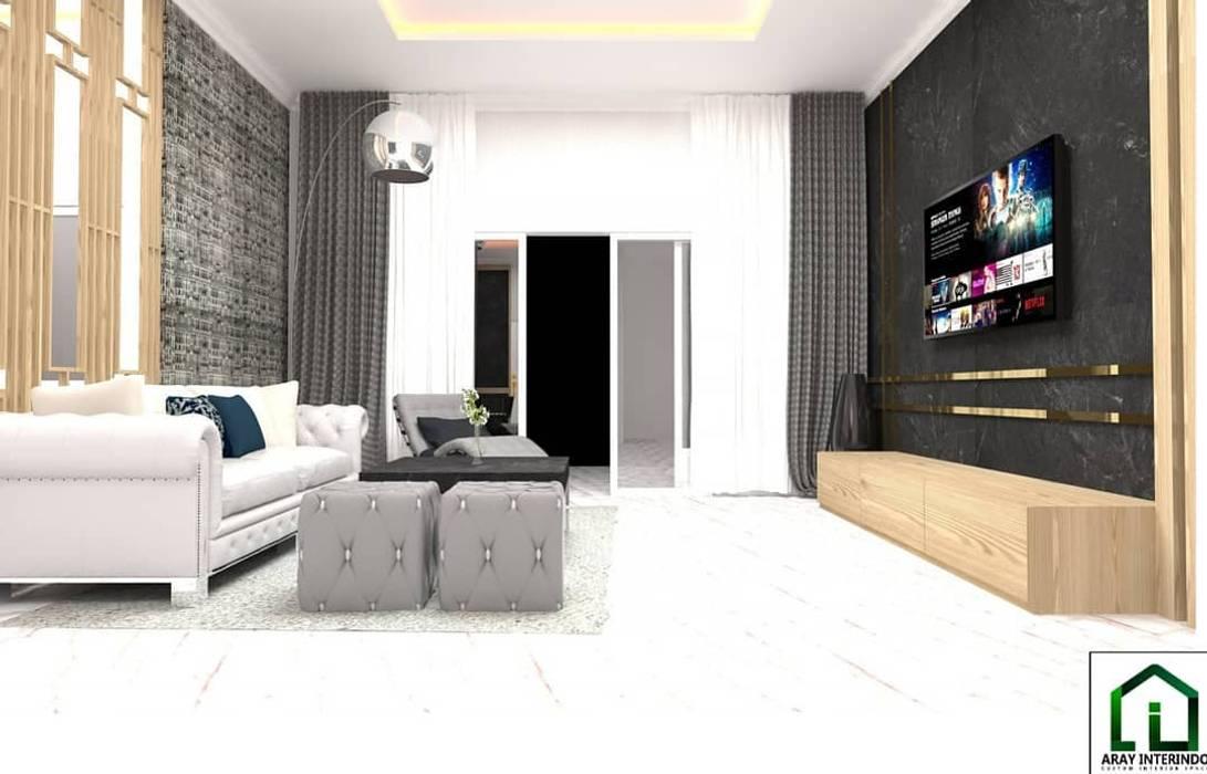 design interior living room american classic low at kota legenda cibubur:  oleh Aray Interindo, Klasik