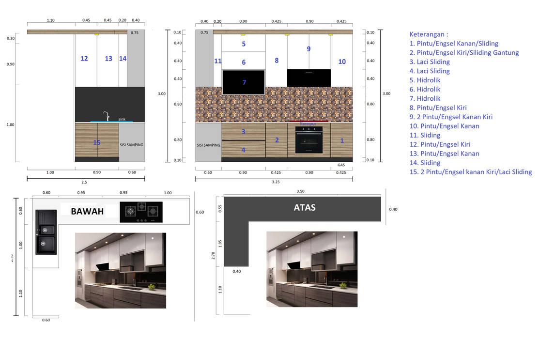 Kitchen Set Oleh Q Interior & Arch Minimalis Kayu Lapis