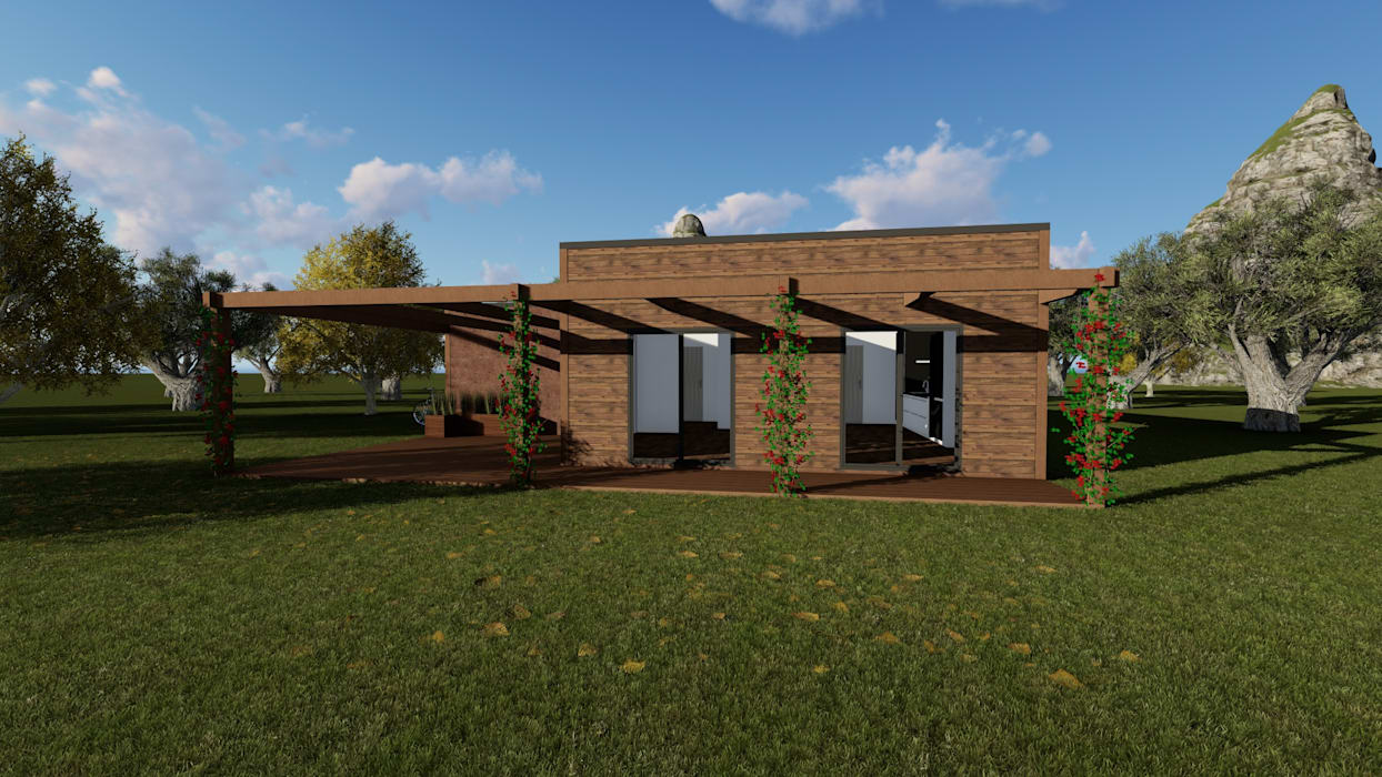 Modelo | T2 123m²: Casas pré-fabricadas  por Discovercasa | Casas de Madeira & Modulares,