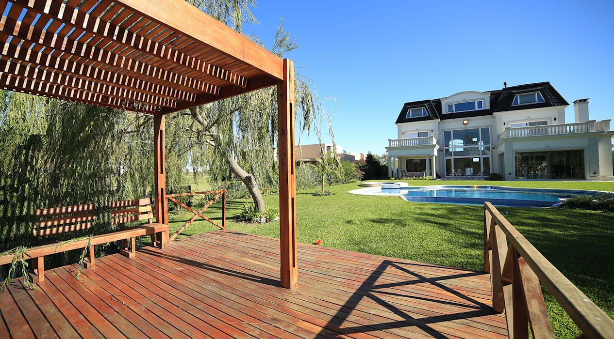 Casa San Eliseo Golf & Country: Jardines de estilo  por ARQCONS Arquitectura & Construcción,Moderno