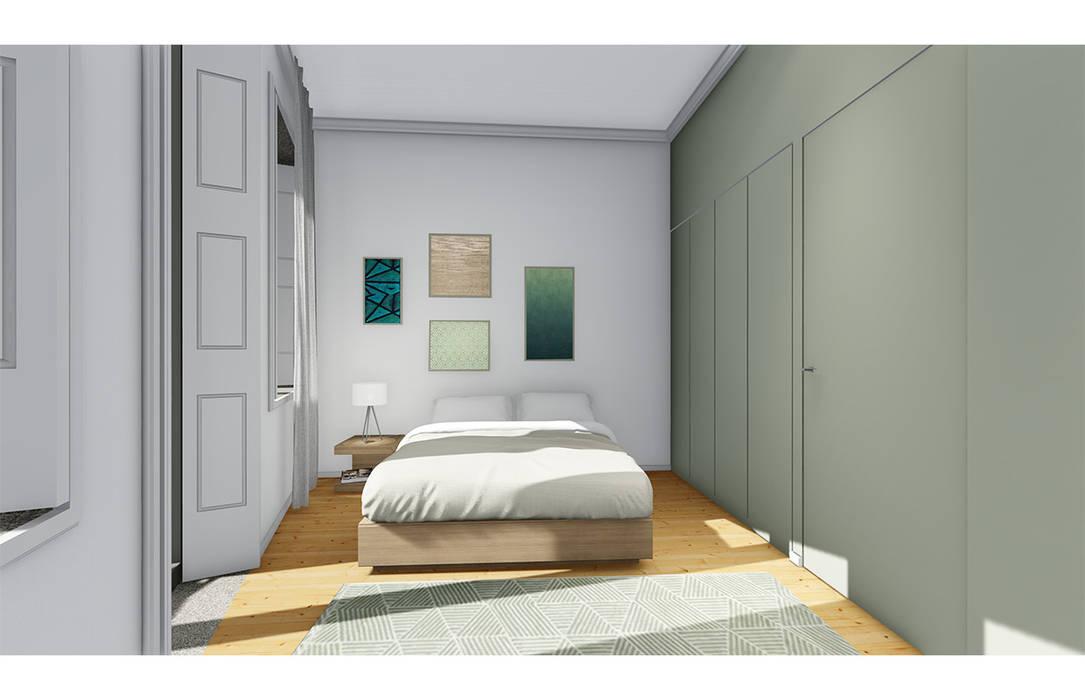 Interior decoration in soft tones توسط OGGOstudioarchitects, unipessoal lda مدرن چوب Wood effect