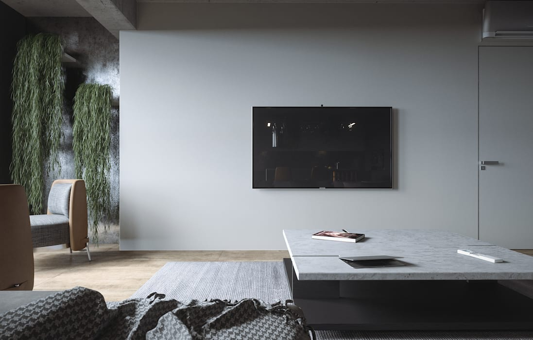 Salas de estilo minimalista de ANARCHY DESIGN Minimalista