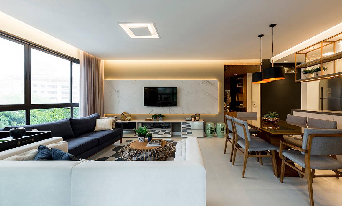 Sala de estar Salas de estar modernas por Espaço do Traço arquitetura Moderno