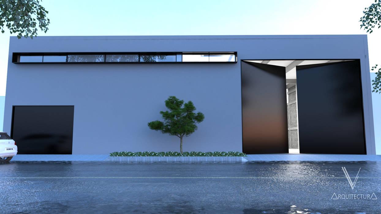 V Arquitectura Minimalist house White