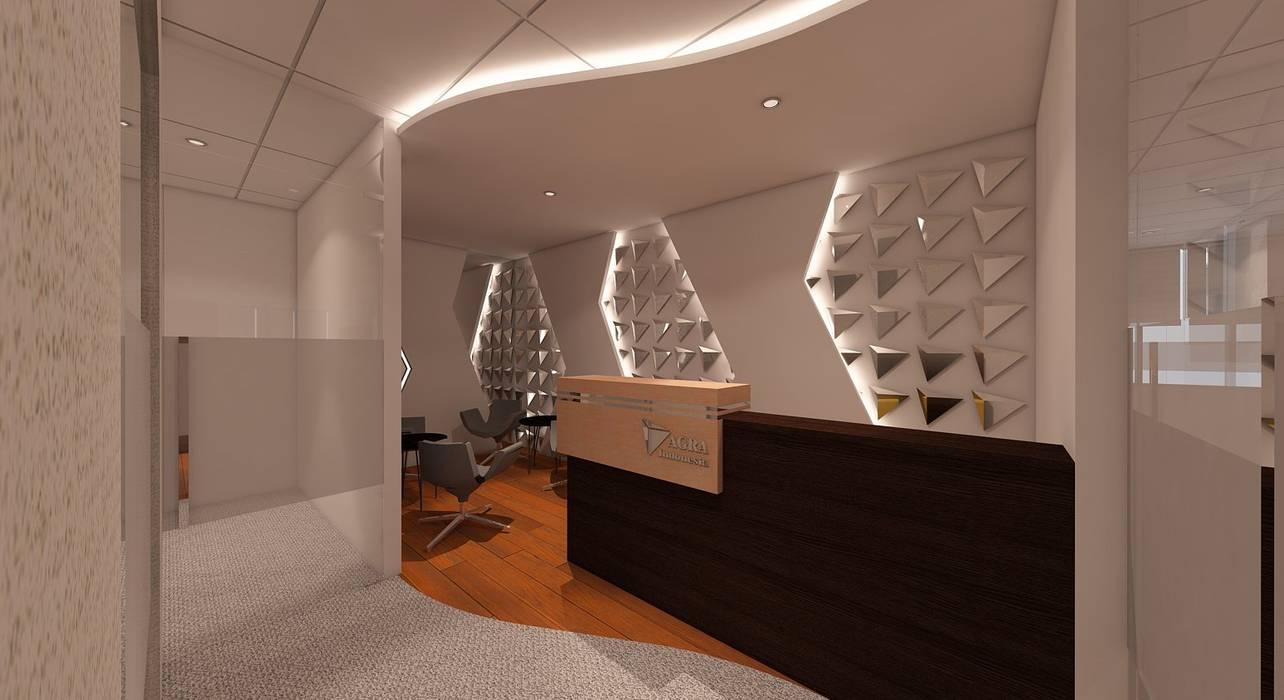 LOBBY Ruang Studi/Kantor Modern Oleh IFAL arch Modern Kayu Wood effect