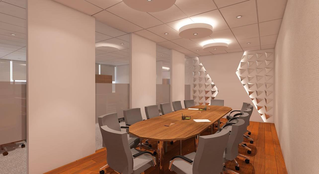 MEETING: Ruang Kerja oleh IFAL arch, Modern Kayu Wood effect