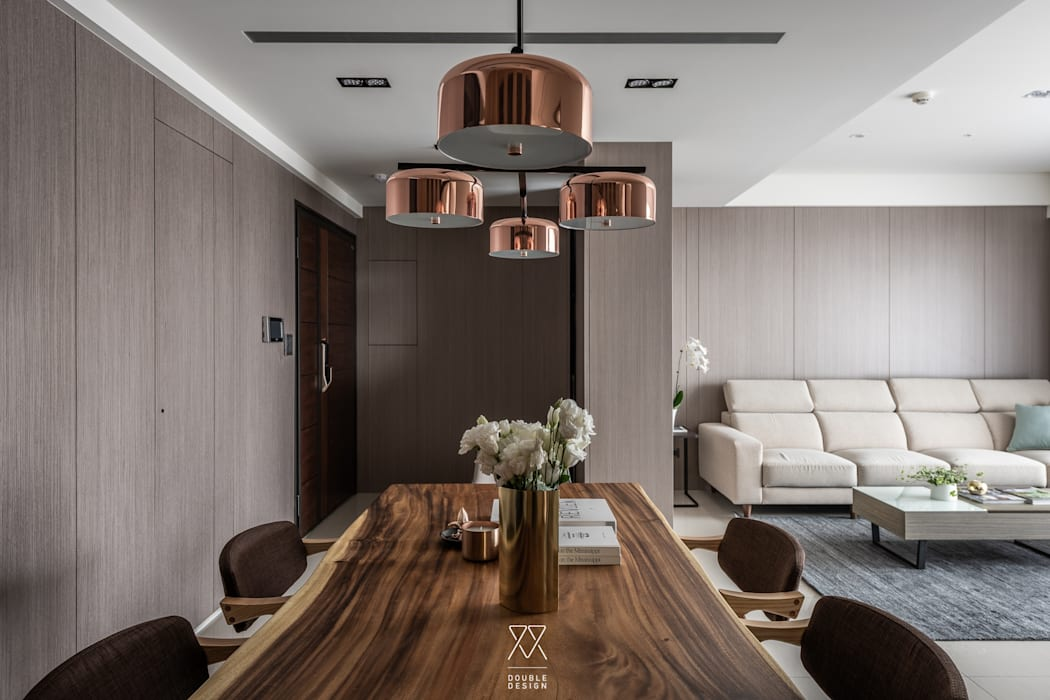 新北永和 敦南一品  Chen residence:  餐廳 by 双設計建築室內總研所,