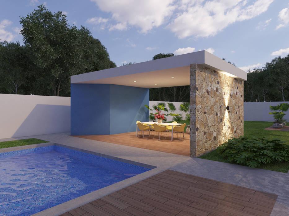 Kolam Renang oleh SRA arquitectos, Modern Beton Bertulang