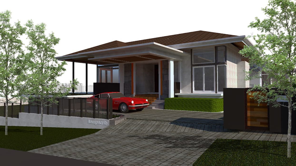 Nilai Spring Bungalow:  Houses by LI A'ALAF ARCHITECT