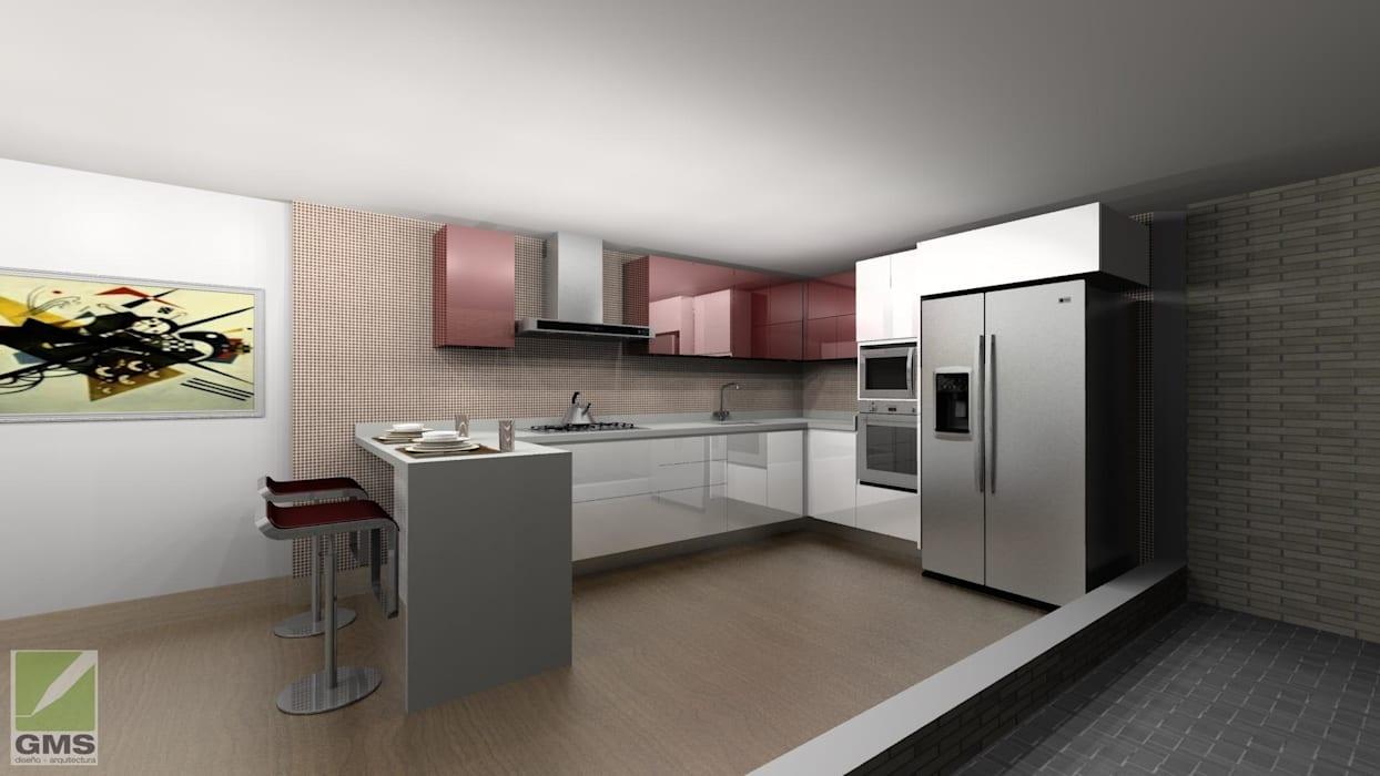 Erick Becerra Arquitecto Cucina moderna