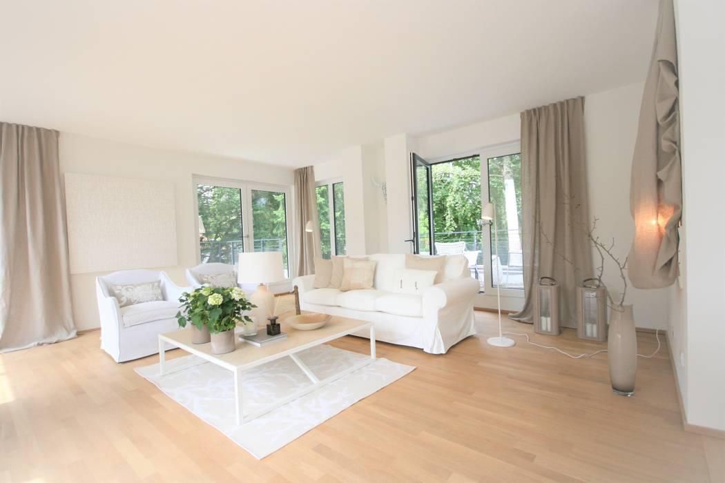 Wohnzimmer Naturtone Styling Home Staging Agentur Geschka
