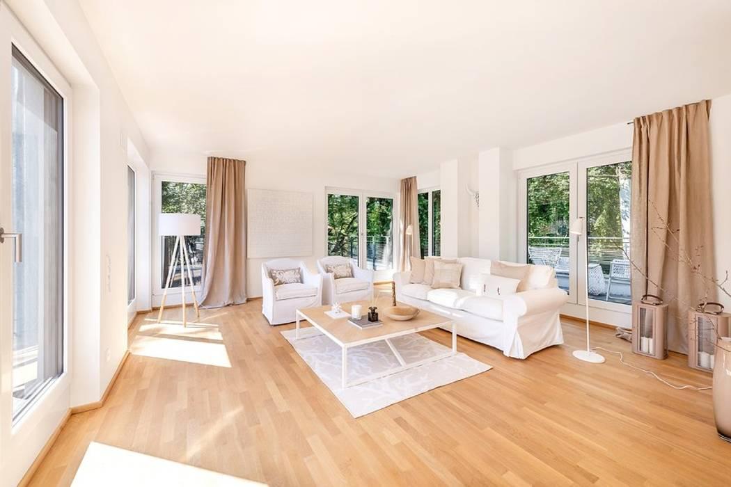 Wohnzimmer In Naturtone Wohnzimmer Von Munchner Home Staging