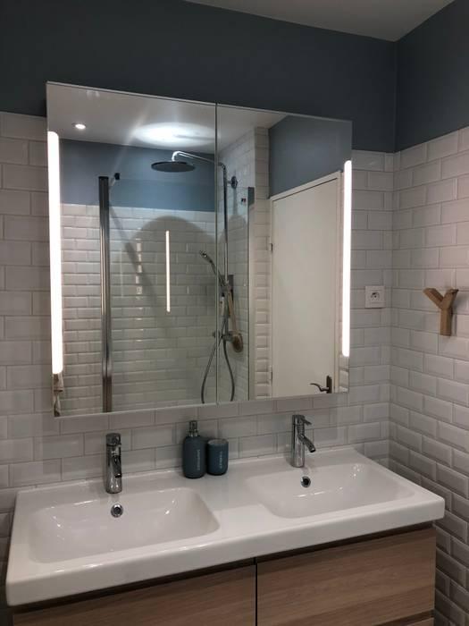 carrelage metro blanc salle de bain classique par thomas
