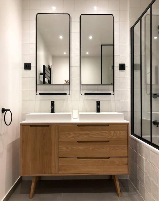 Meuble vasque customisé salle de bain moderne par thomas ...