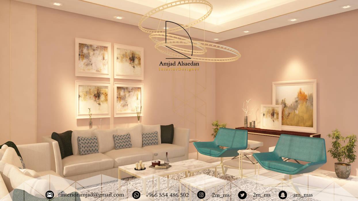 غرفة معيشة - Living room:  غرفة المعيشة تنفيذ Amjad Alseaidan