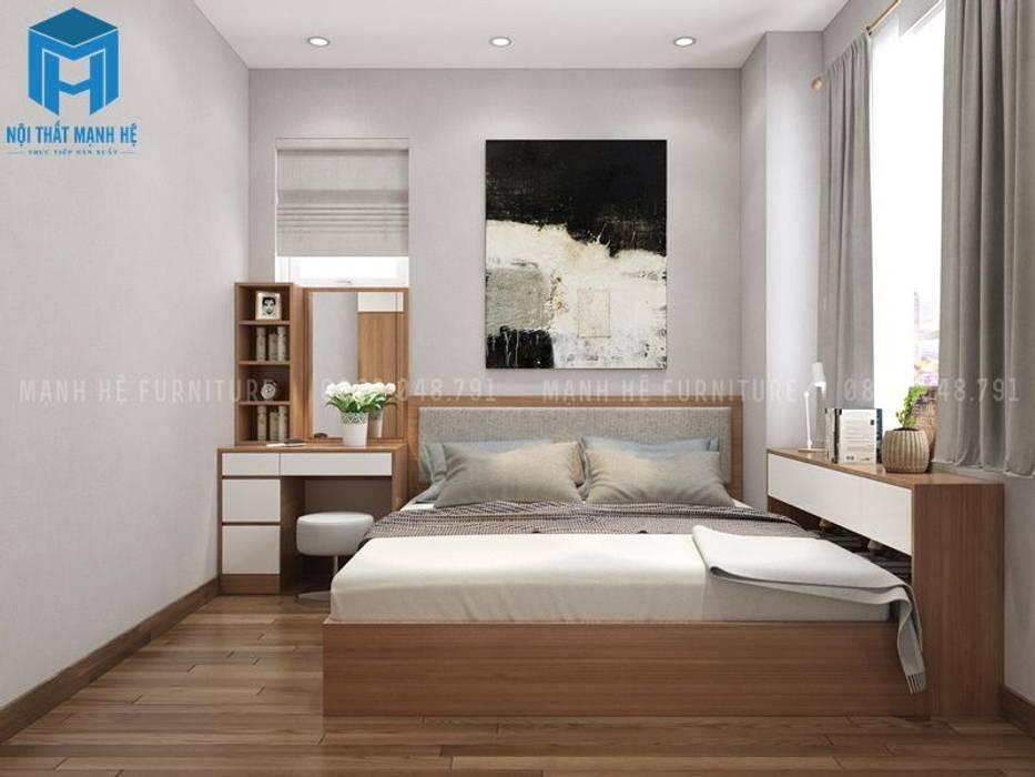 Mẫu Thiết Kế Nội Thất Phòng Ngủ 1:  Phòng khách by Công ty TNHH Nội Thất Mạnh Hệ, Châu Á