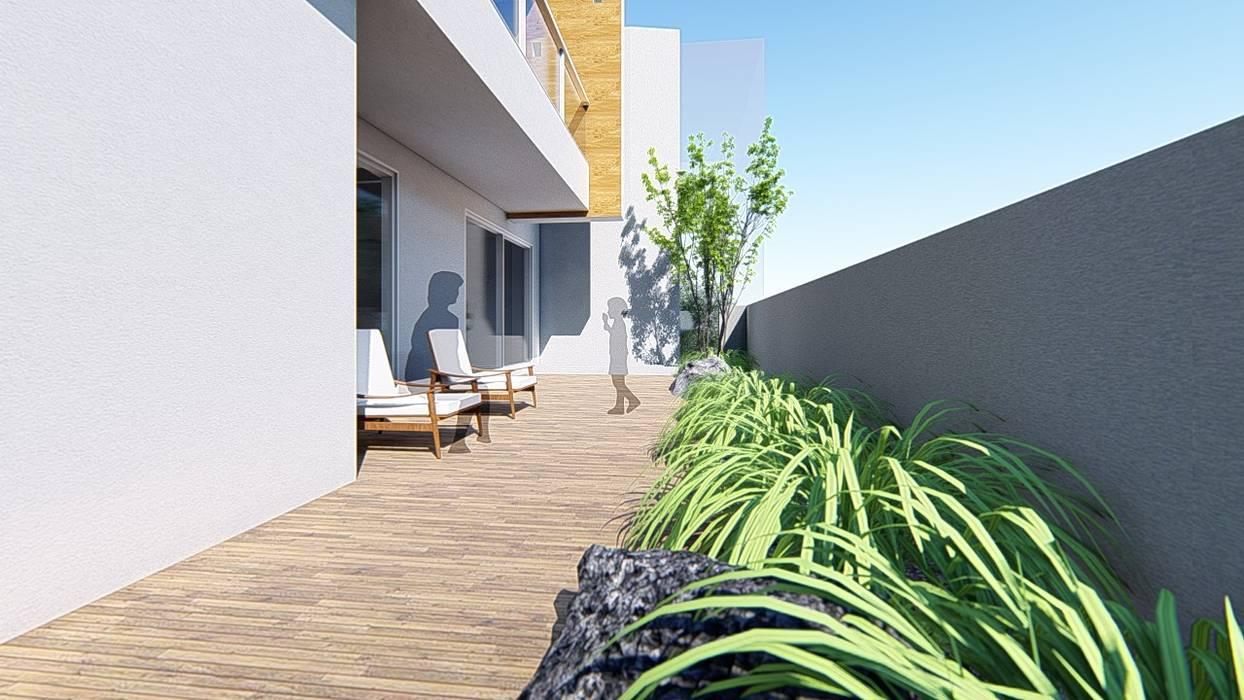 2樓露臺 根據 尋樸建築師事務所 簡約風
