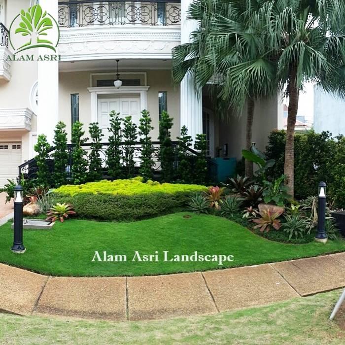 Taman Depan Rumah Surabaya Alam Asri Landscape Taman Modern Batu Green