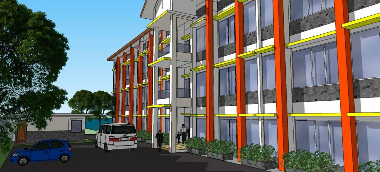 Detil Entrance Hotel:  oleh Amirul Design & Build ,