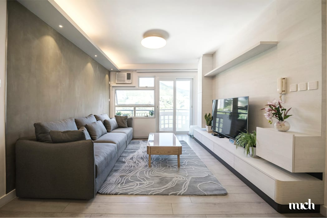 Beverly Hills Happy Valley Hong Kong Island :  Living room by Much Creative Communication Limited, Minimalist