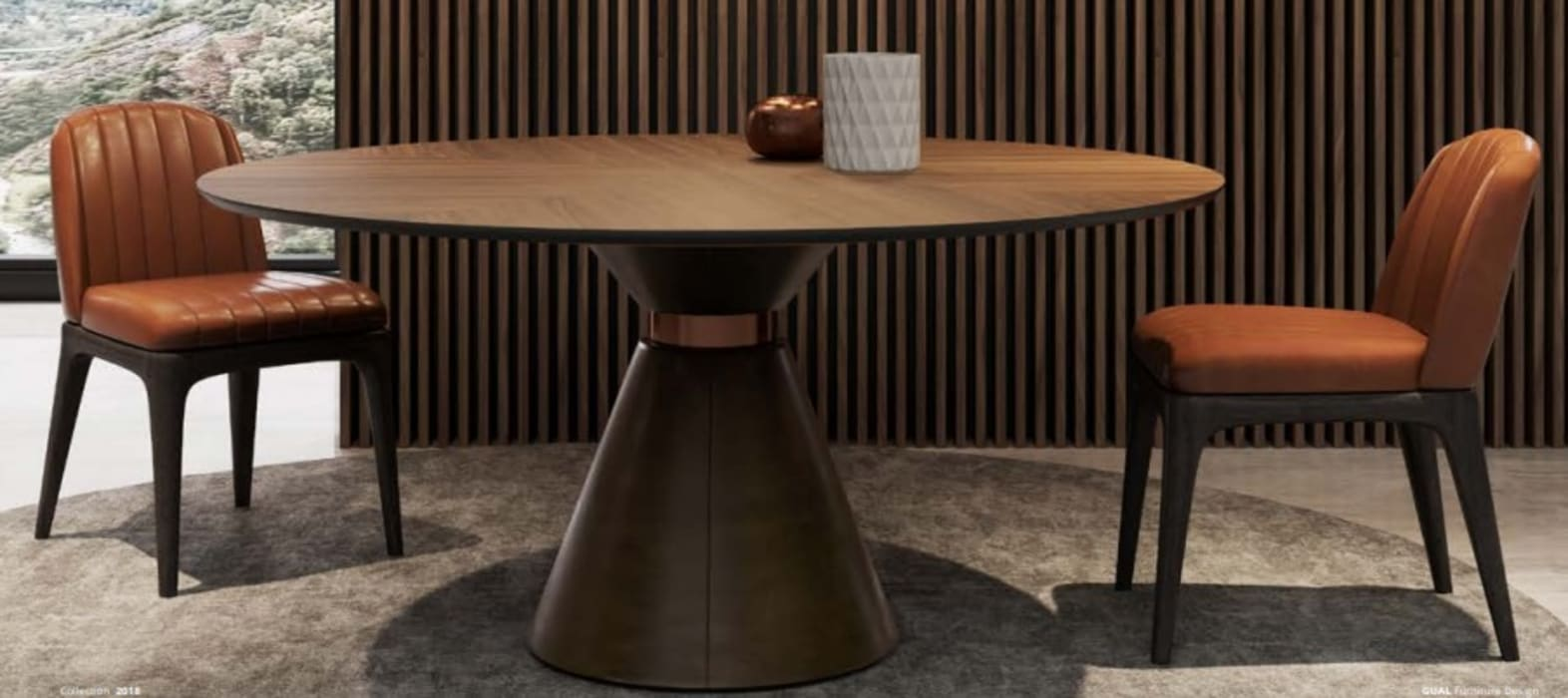 mesa redonda: Salas de estar  por CRISTINA AFONSO, Design de Interiores, uNIP. Lda