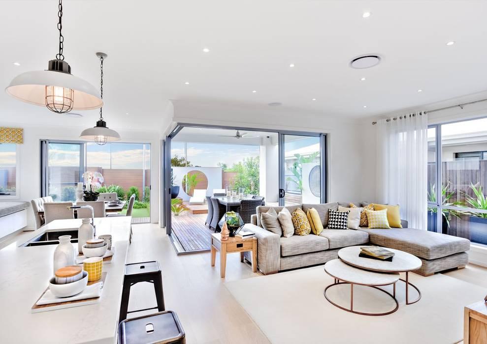 Obras y reformas de viviendas: Salones de estilo  de Klausroom
