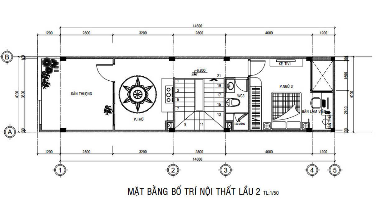 Nhà Phố 3 Tầng 4x15m Đẹp Tinh Tế Với Chi Phí Hoàn Thiện 1,18 Tỷ by Công ty Thiết Kế Xây Dựng Song Phát Asian