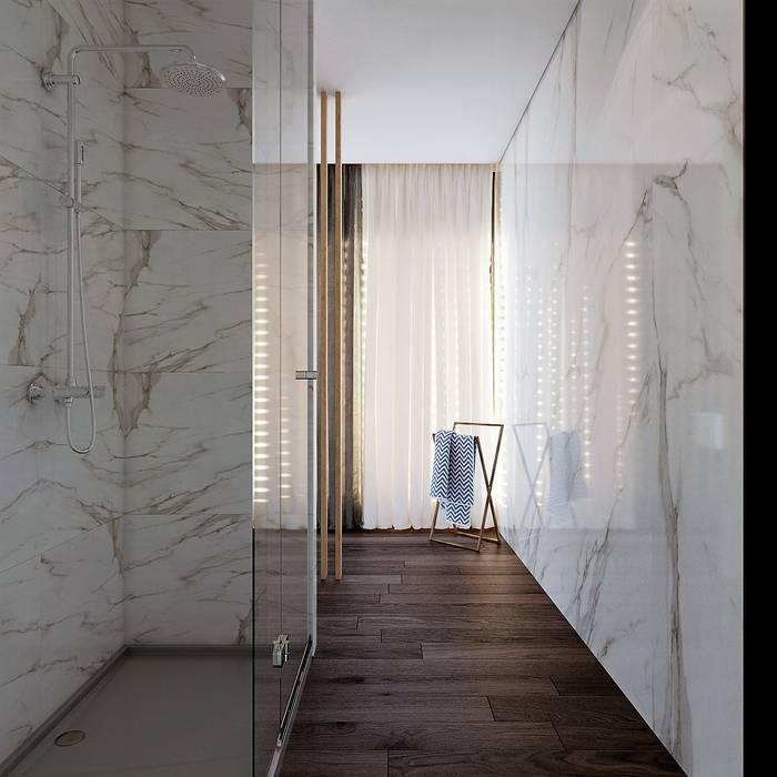 Moradia Unifamiliar - Gondomar - Tipologia T3 Esboçosigma, Lda Casas de banho modernas