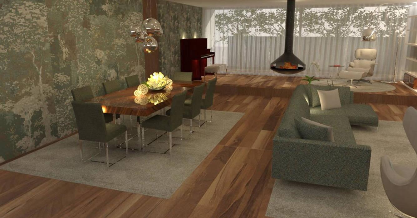 Os elementos decorativos...: Salas de estar  por Casactiva Interiores