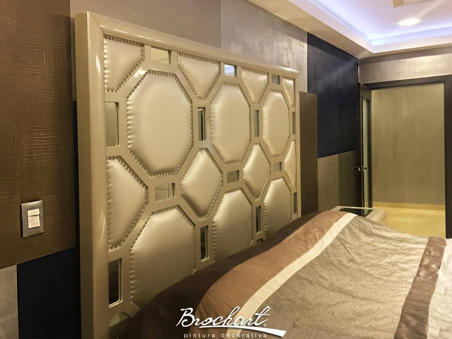 Dormitorio secundario, técnica Viena y Composición de cuadros © Brochart pintura decorativa Paredes y pisos de estilo moderno