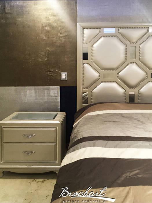Dormitorio secundario, técnica Viena ©: Paredes de estilo  por Brochart pintura decorativa
