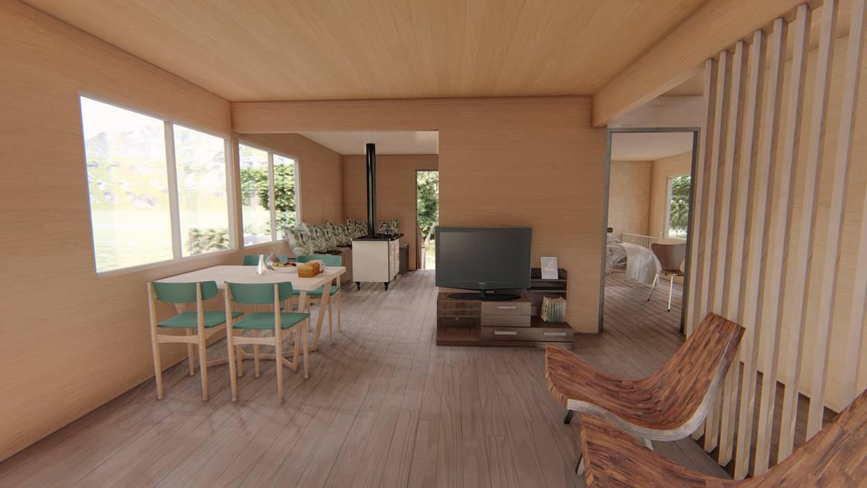 Imagen 3d interior Livings de estilo moderno de Ekeko arquitectura - Coquimbo Moderno