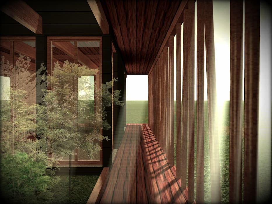 Prefabricated home by Vicente Espinoza M. - Arquitecto