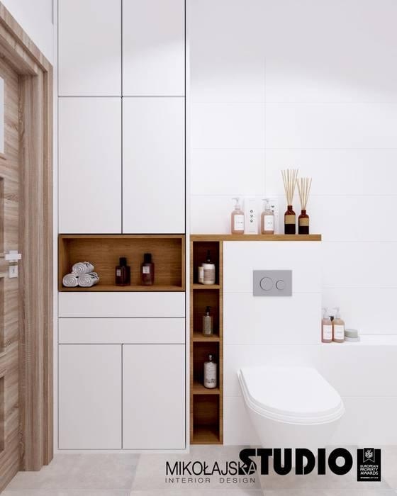 MIESZKANKO DLA DWOJGA Skandynawska łazienka od MIKOŁAJSKAstudio Skandynawski