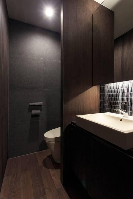 洗面台: 川添純一郎建築設計事務所が手掛けた浴室です。,