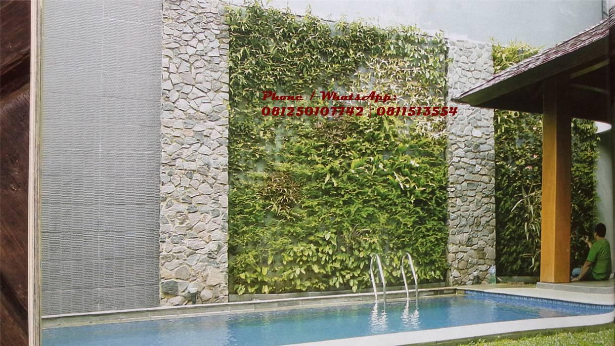 JASA TUKANG TAMAN VERTIKAL SURABAYA - Vertical garden part I:  oleh TUKANG TAMAN SURABAYA - jasataman.co.id, Tropis