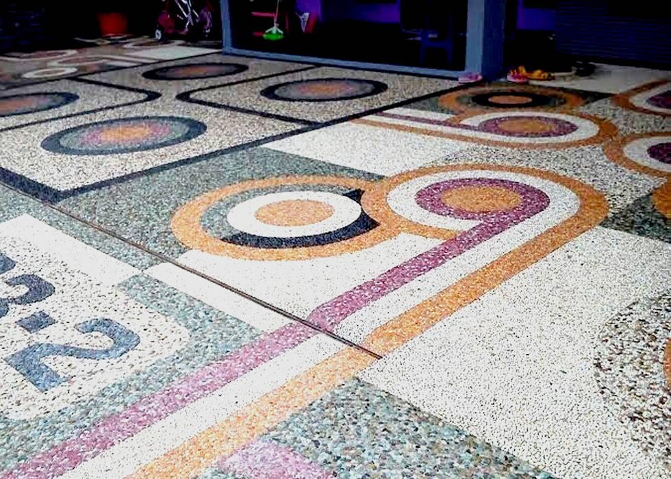Jasa pemasangan batu sikat | carport | ampyangan surabaya jawa timur: Walls & flooring oleh TUKANG TAMAN SURABAYA - jasataman.co.id,