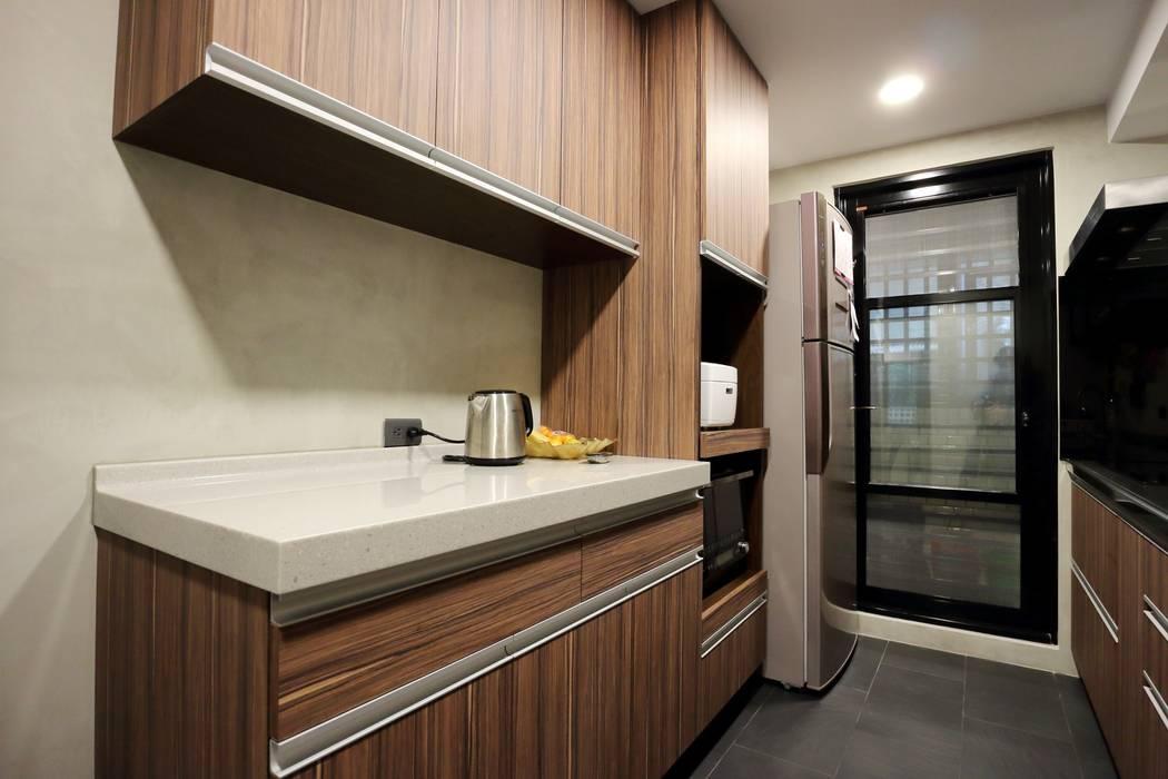 不拖泥帶水的寧靜感住所 青築制作 廚房