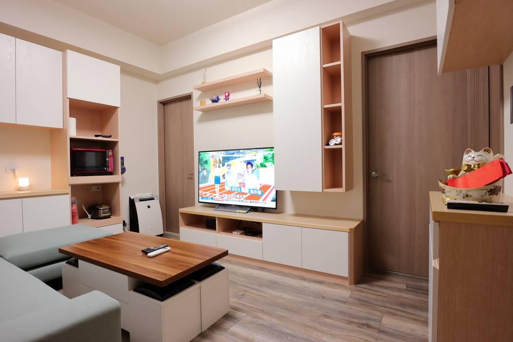 北歐務實派的簡約居家 青築制作 客廳