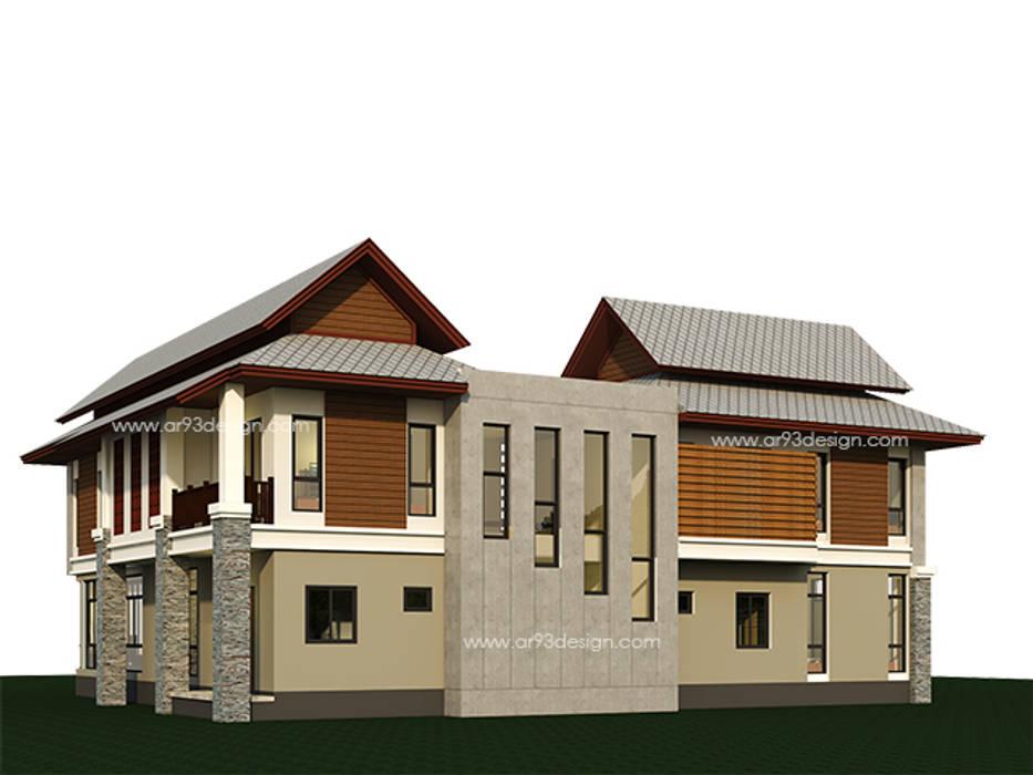 แบบบ้านสวยสองชั้น AR01:  บ้านเดี่ยว by ar93design.com