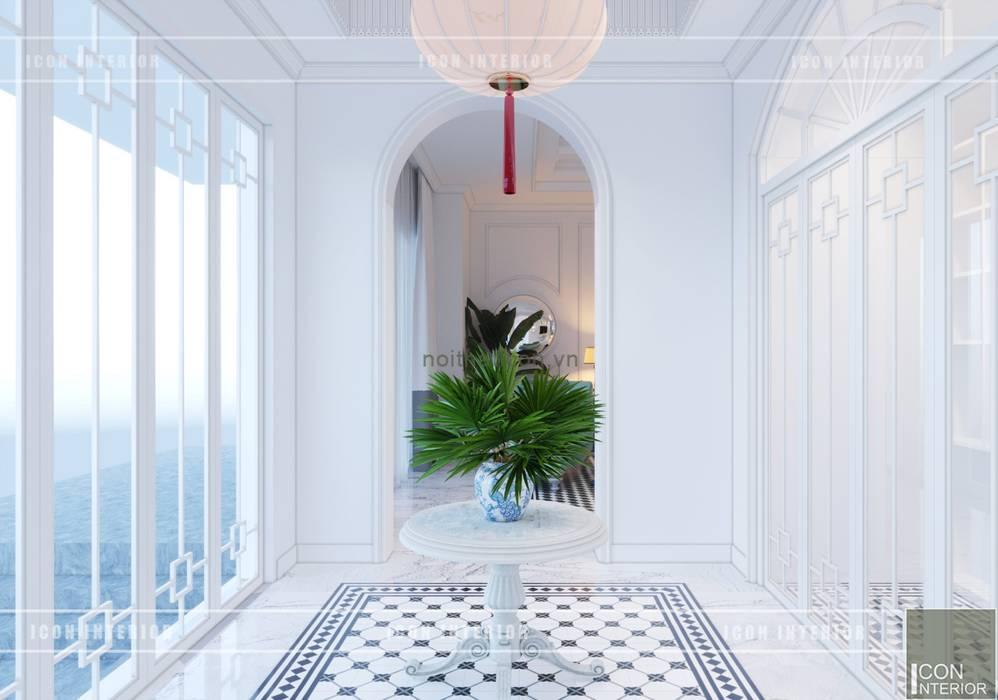 Thiết kế biệt thự theo phong cách Đông Dương - Vẻ đẹp giá trị thời gian:  Cửa ra vào by ICON INTERIOR, Châu Á