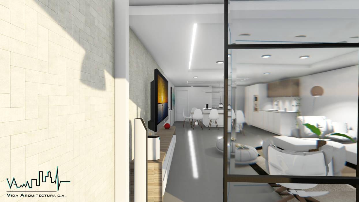 Remodelacion y diseño interior para apartamento Balcones y terrazas de estilo moderno de Vida Arquitectura Moderno