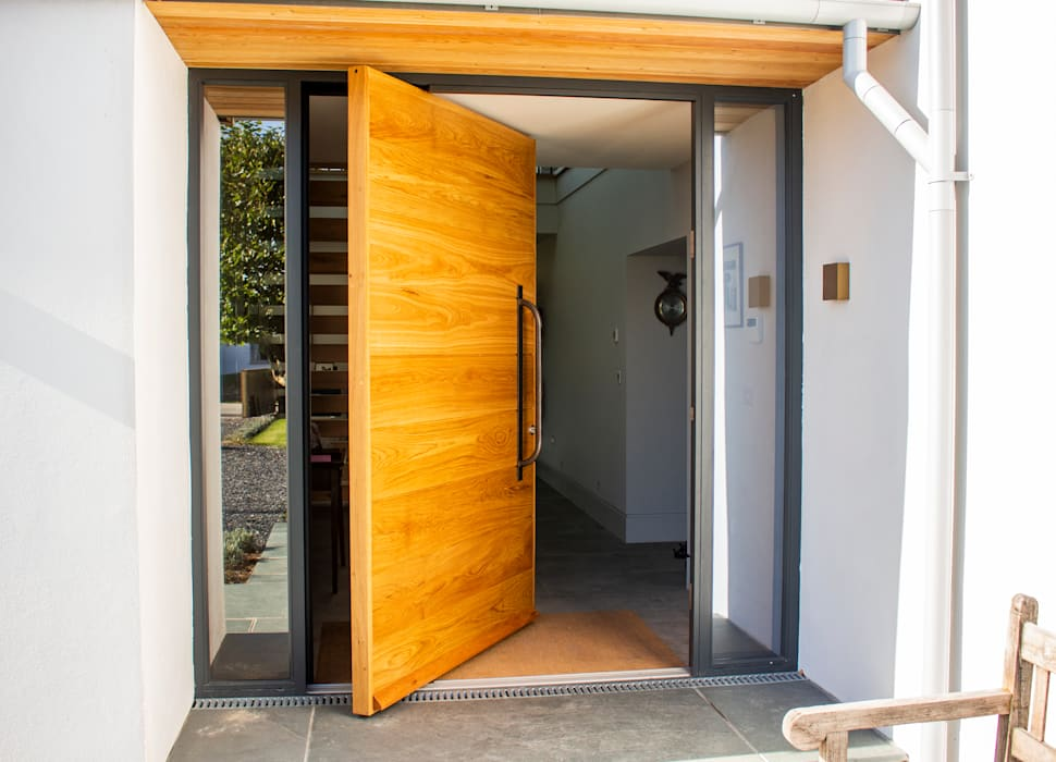 Timber Pivot Entrance door by Camel Glass Modern Wood Wood effect