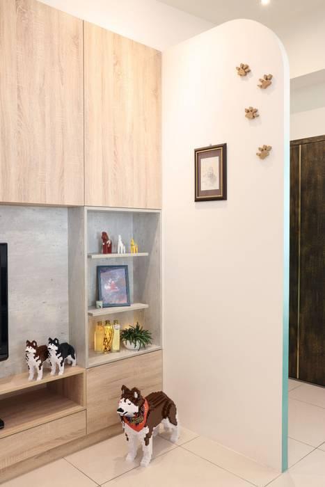 扎西德勒-空間優化的北歐簡約風透天厝 根據 酒窩設計 Dimple Interior Design 北歐風 塑木複合材料